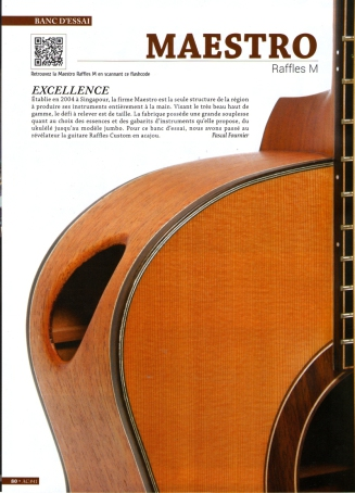 Banc d'essai guitare folk maestro Raffles M